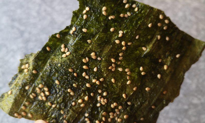 Laotańska kuchnia: Kaipan - Fried River Weed (algi)