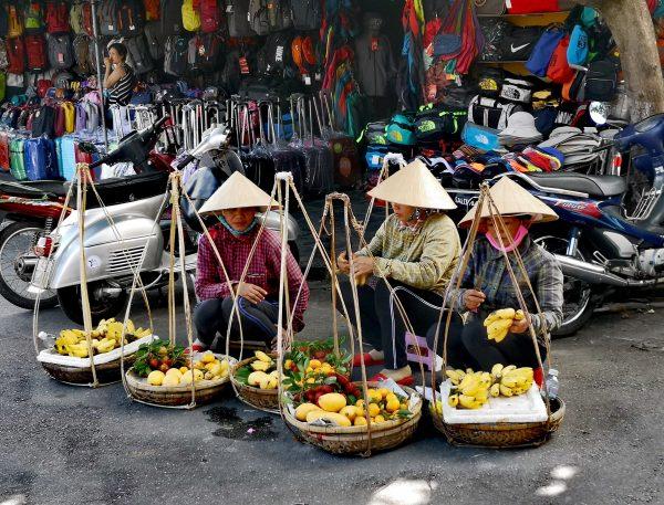 Ulice Hoi An - sprzedawczynie