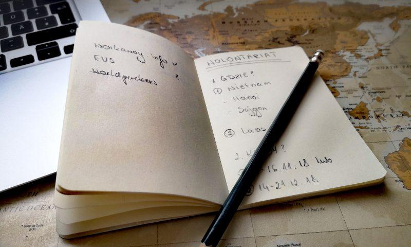 Wolontariat zagraniczny. Zapiski i planowanie wyjazdu na wolontariat zagraniczny.