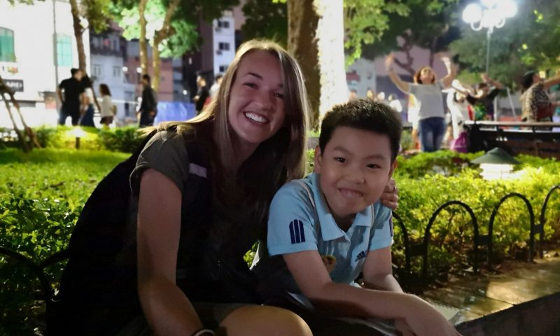 Mniej znane atrakcje Hanoi. Nauka angielskiego na ulicy w Hanoi.