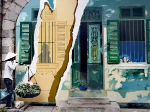 Atrakcje Hanoi - Street Art in Hanoi - Vietnamese Life. Mural w Hanoi