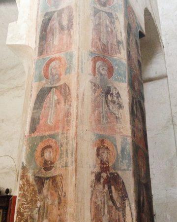 Sakralne malowidła ścienne: Freski na ścianie w Gruzji