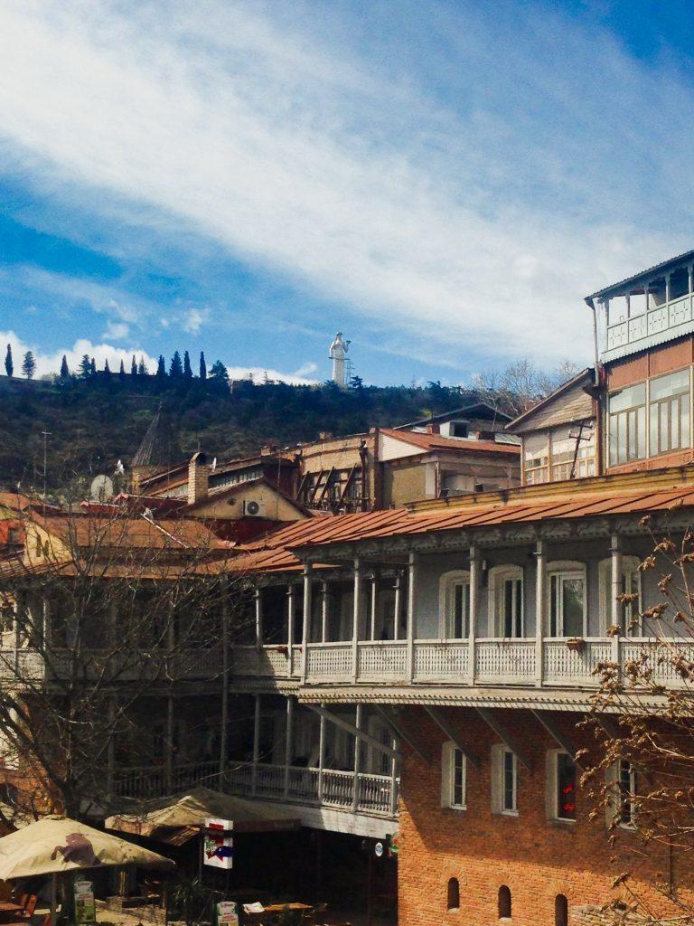 Widok na Tbilisi - Matka Gruzja