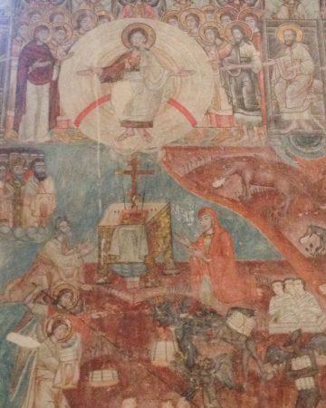 Freski na ścianie w Gruzji