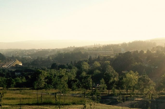 Widok na Santiago - Monte Gozo