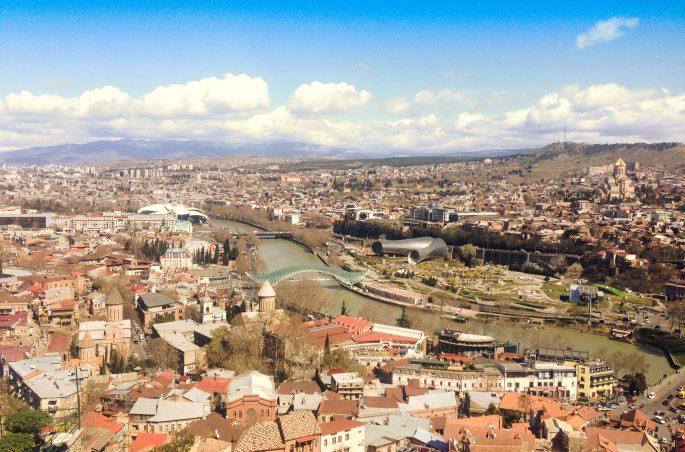 Co zobaczyć w Tbilisi - największe atrakcje Tbilisi - widok na miasto