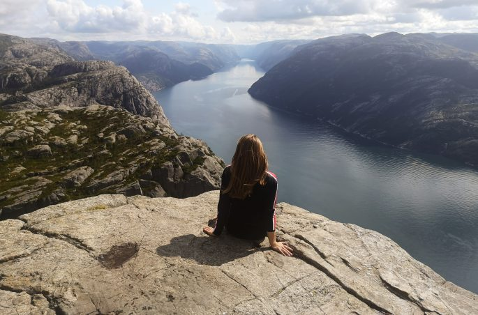 Viola and the World - Norway, Norwegia, Pulpit Rock, Lysefjorden, fjord