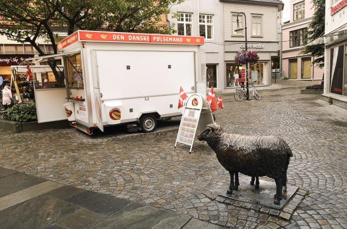 Street food in Stavanger, Norway - Den Danske Pølsemand