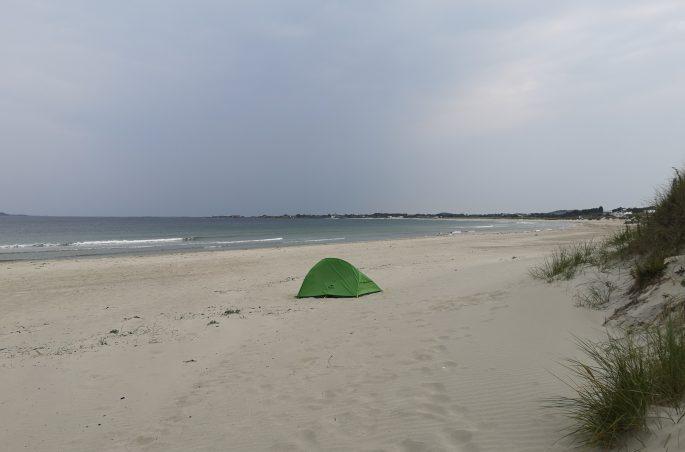 Biwakowanie na plaży w Sola - Norwegia. Norwegia pod namiotem - Naturehike Clound-up
