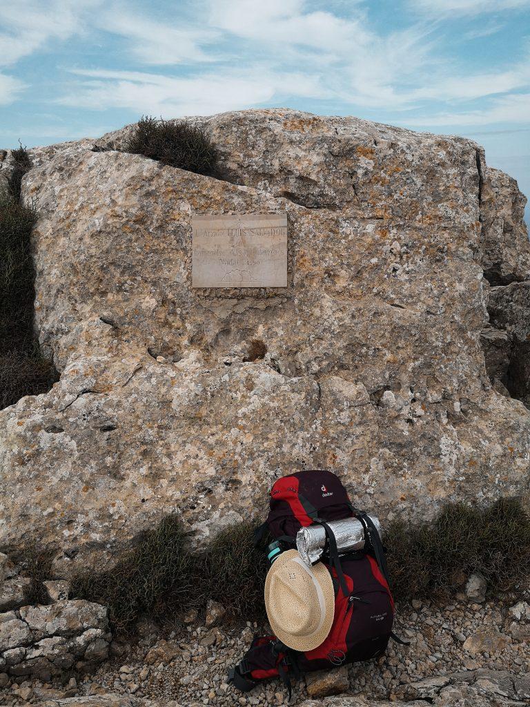 Szczyt Calagori - Droga jeździecka Erzherzog Ludwig Salvador. Góry na Majorce. Pieszo po Majorce
