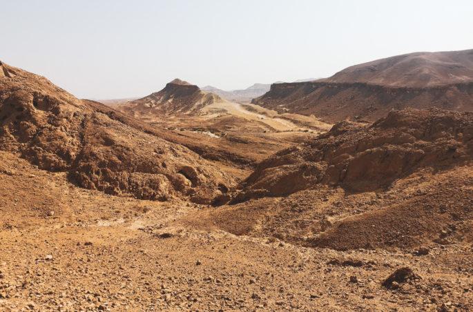 Pustynia Negew w Izraelu. Desert Negev in Israel