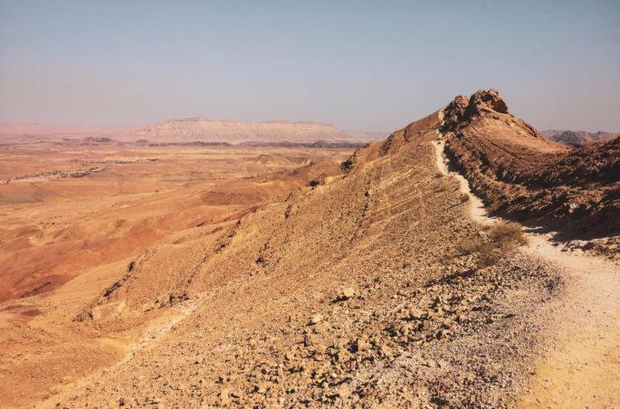 Góry Karbolet - pustynia Negew w Izraelu.