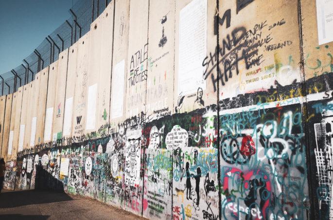 Autonomia Palestyńska. Mur w Betlejem. Mall in Bethlehem.