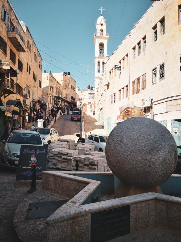 Droga Gwiazdy Betlejemskiej. Star street in Bethlehem-Israel.