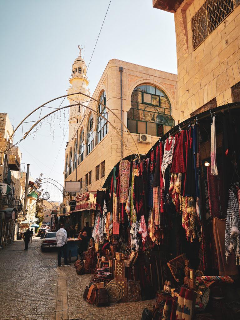 Star street in Bethlehem. Droga Betlejemska. droga Gwiazdy Betlejemskiej w Betlejem.