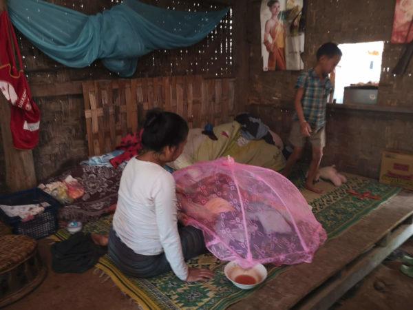 Chatka laotańska. Tradycyjne domy w Laosie. Laos - niezapomniane wioski w okolicach Nong Khiaw