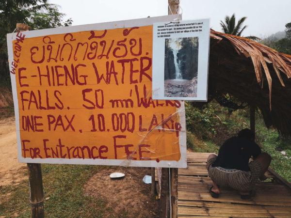 Wodospad w Laosie, w okolicach Nong Khiaw. Co zobaczyć w Nong Khiaw. E-Hieng Waterfall