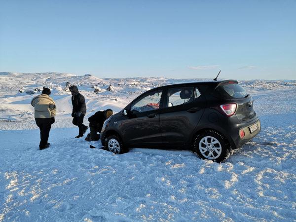 Jaki samochód na Islandię w zimie. Problemy z samochodem Hunday i10