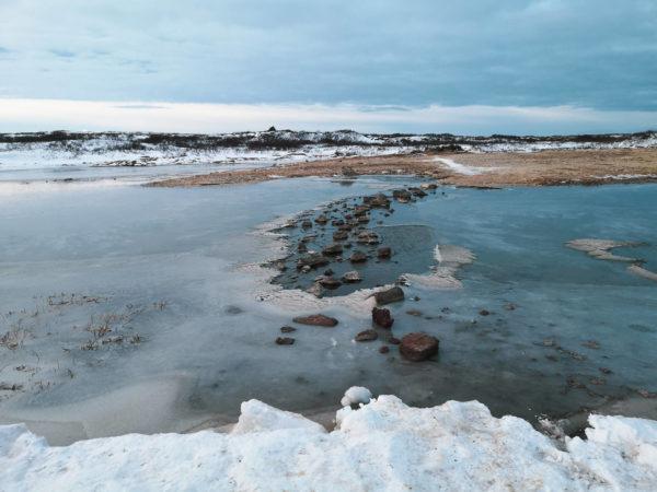 Gorące źródło Landbrotalaug. Hot spring Landbrotalaug. Najlepsze gorące źródła na Islandii